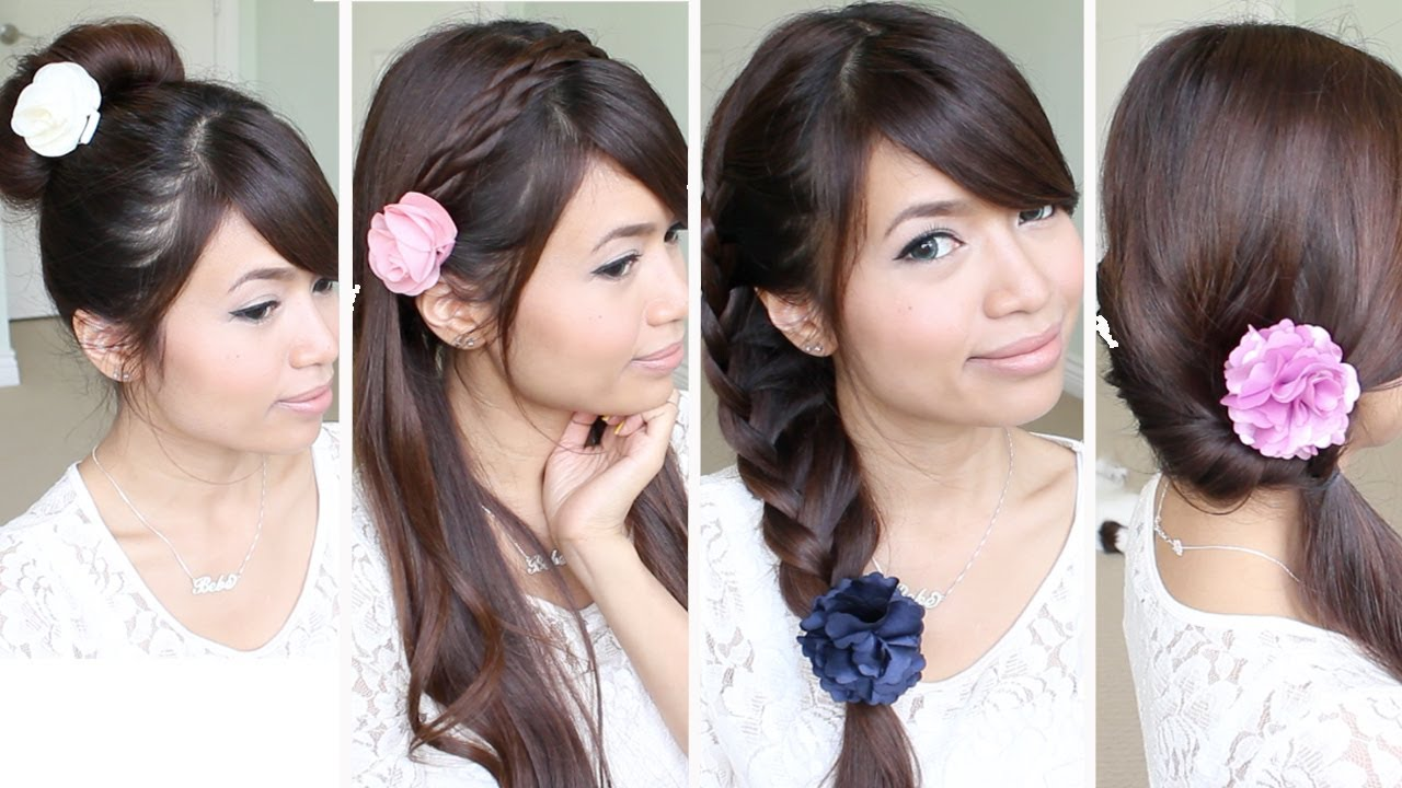 Quick & Easy Back-to-School Hairstyles for Medium Long Hair Tutorial ...