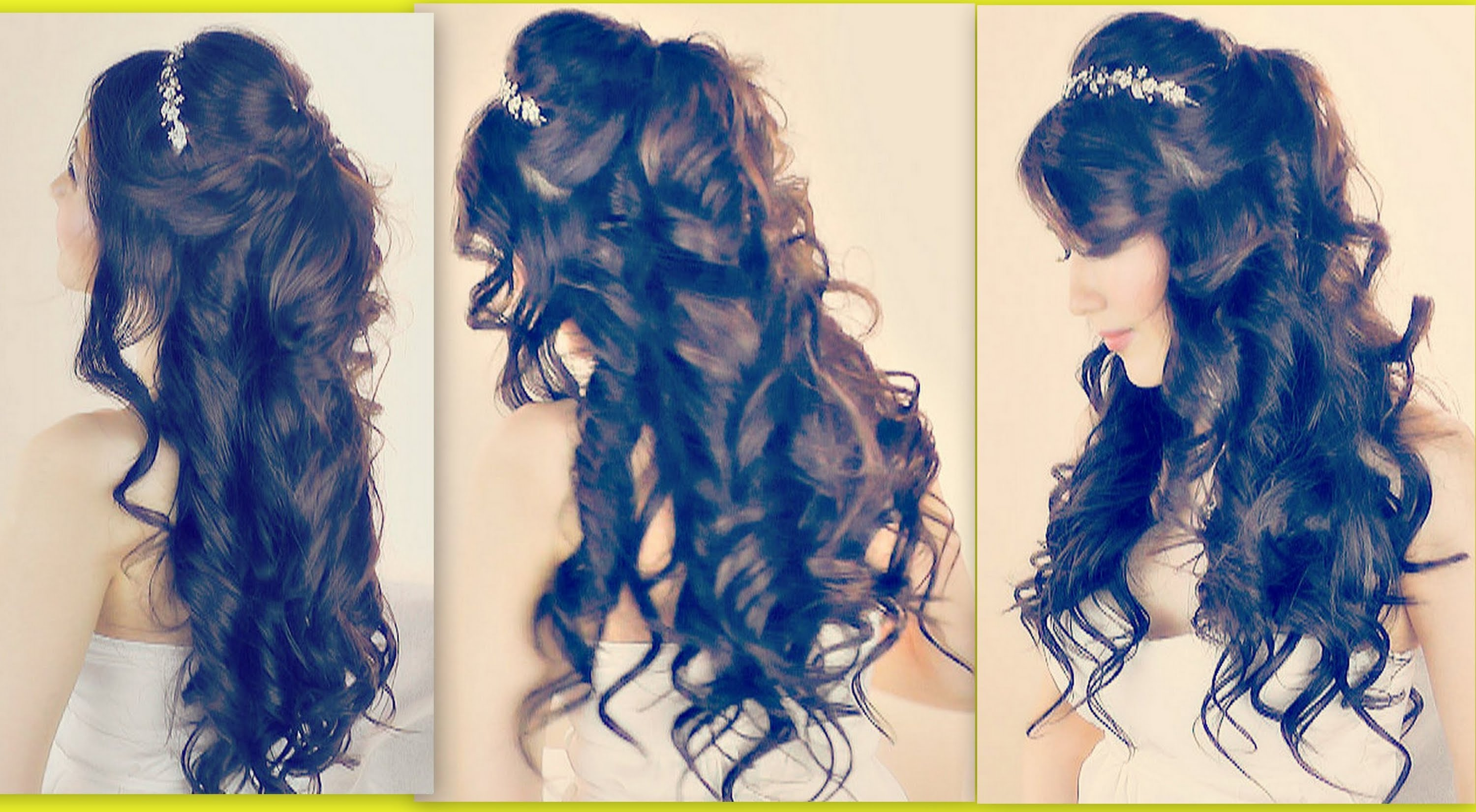 Formal Hairstyles For Long Hair Easy : HAIRSTYLES EASY FORMAL HALF-UP UPDO FOR PROM WEDDING MEDIUM LONG ...