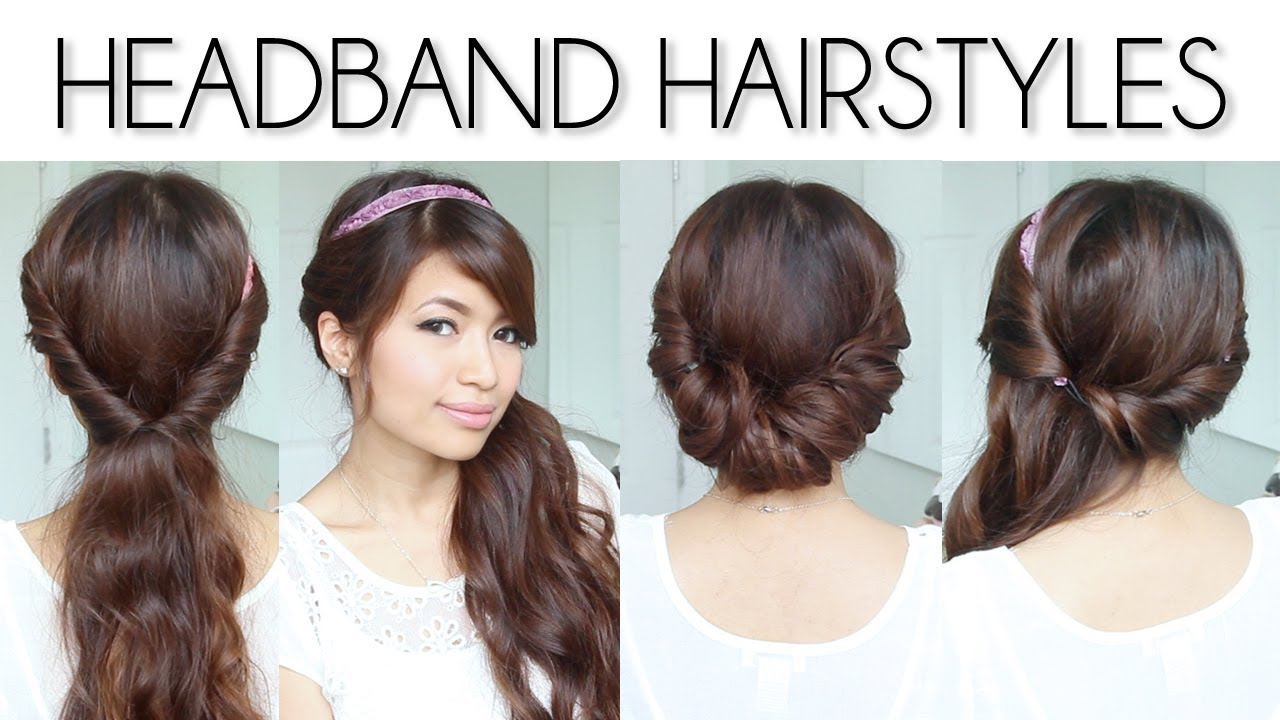 Hairstyles For Long Hair To Short : ... Headband Hairstyles for Short and Long Hair Tutorial Qtiny.com