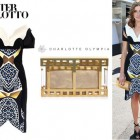 Kate Waterhouse's Peter Pilotto 'Vera' Marble Print Dress And Charlotte Olympia 'Box Office Pandora' clutch