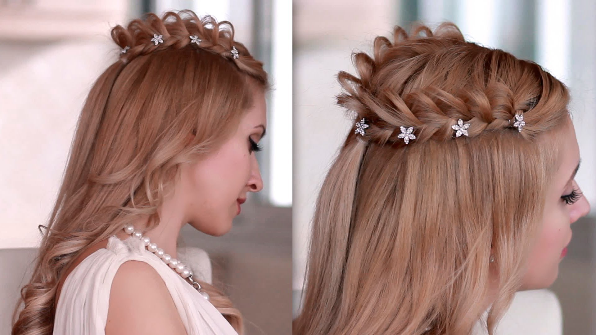 Pics Photos - Easy Braided Halo Hairstyle