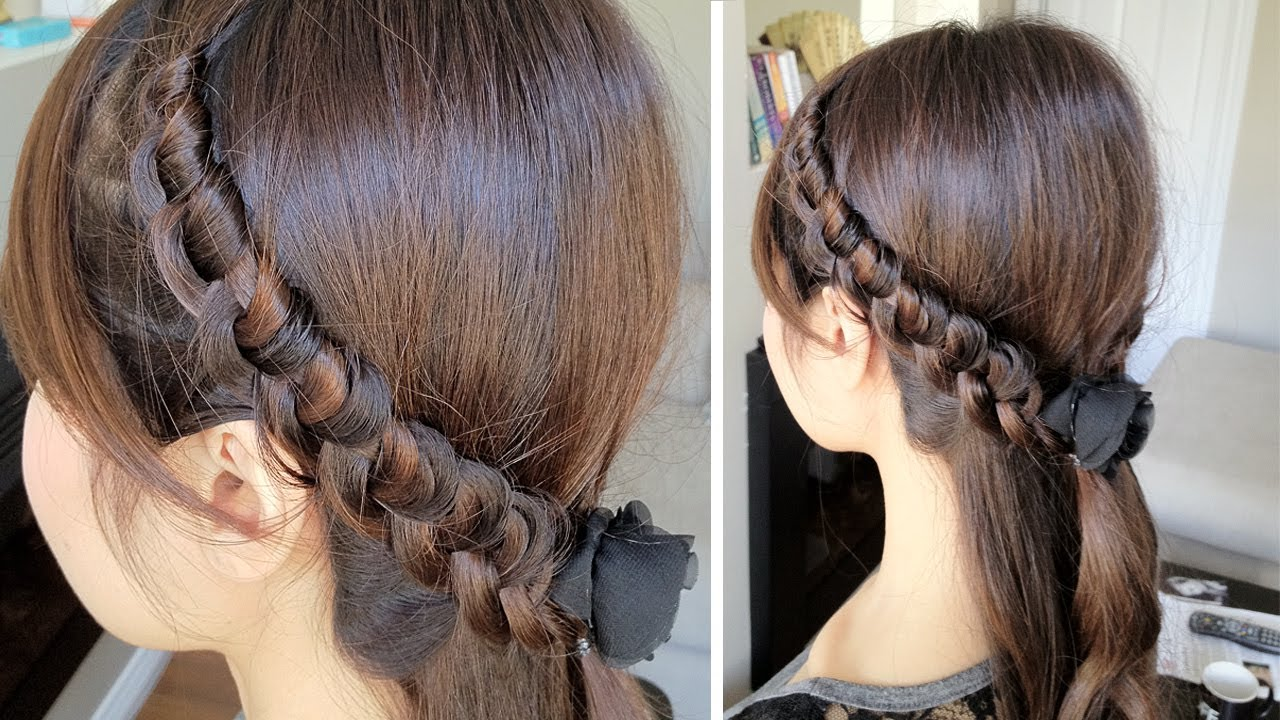 Chinese Staircase Knotted Headband Hairstyle for Medium Long Hair ...
