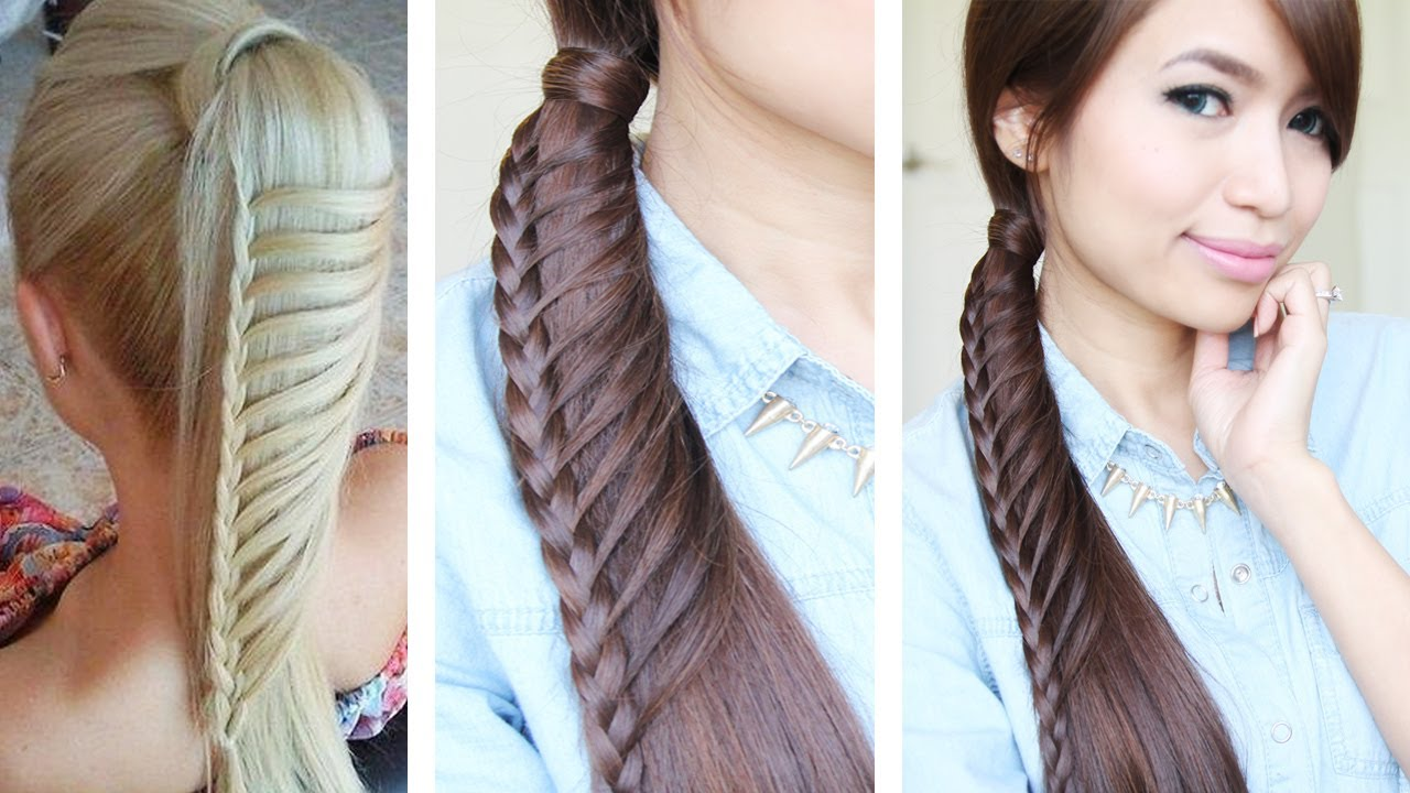 Tremendous Hair Tutorials For Medium Hair Braids Hairstyles For Women Draintrainus