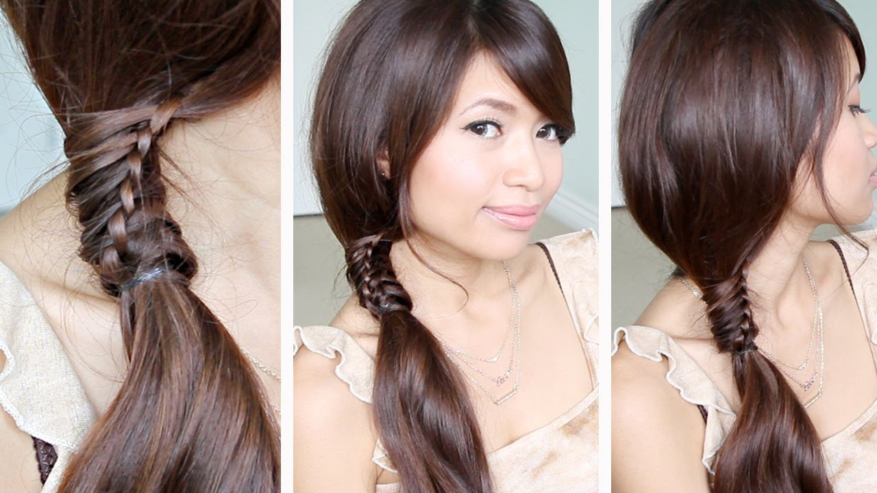 Hairstyles For Long Hair Ponytail : ... Stitch Ponytail Hairstyle for Medium Long Hair Tutorial Qtiny.com