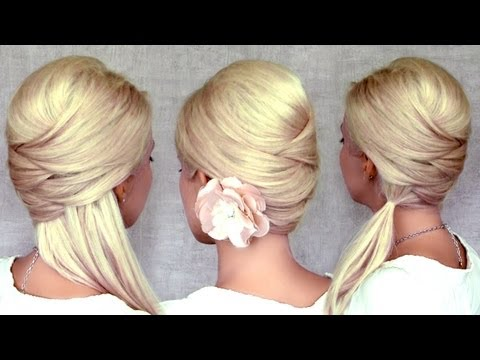 Criss cross hairstyles: half up half down, ponytail and updo for ...
