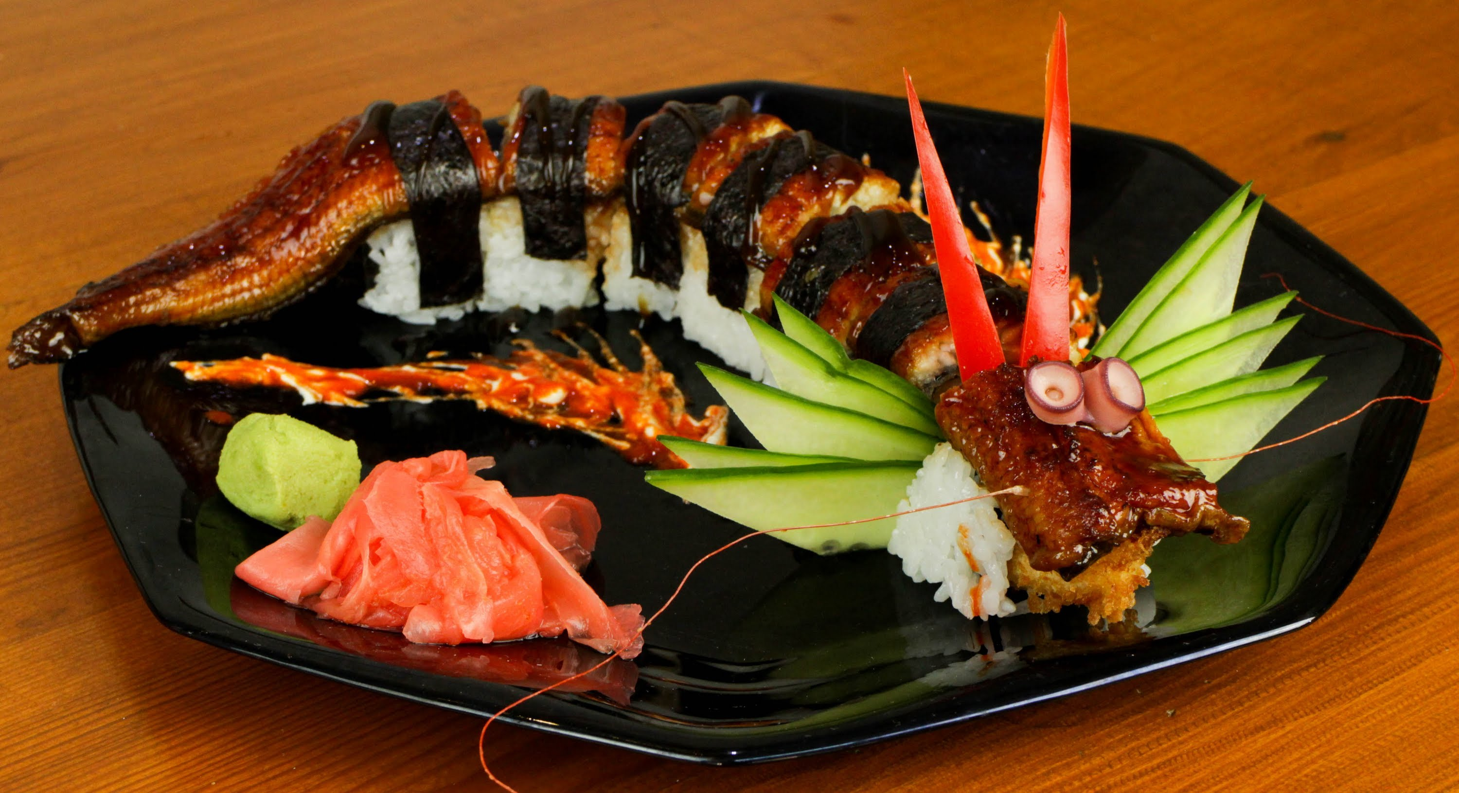 Dragon Sushi Roll Recipe Japanese Food Delicious
