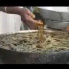 He Puts Hands inside Boiling Frying Oil  Indian Chef Fries Fish With Bare Hands
