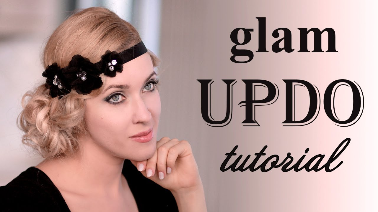 Holiday Hairstyle Tutorial Glam Faux Bob Updo For Long Hair Qtiny