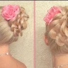 Easy New Year's eve updo hairstyle for long hair tutorial