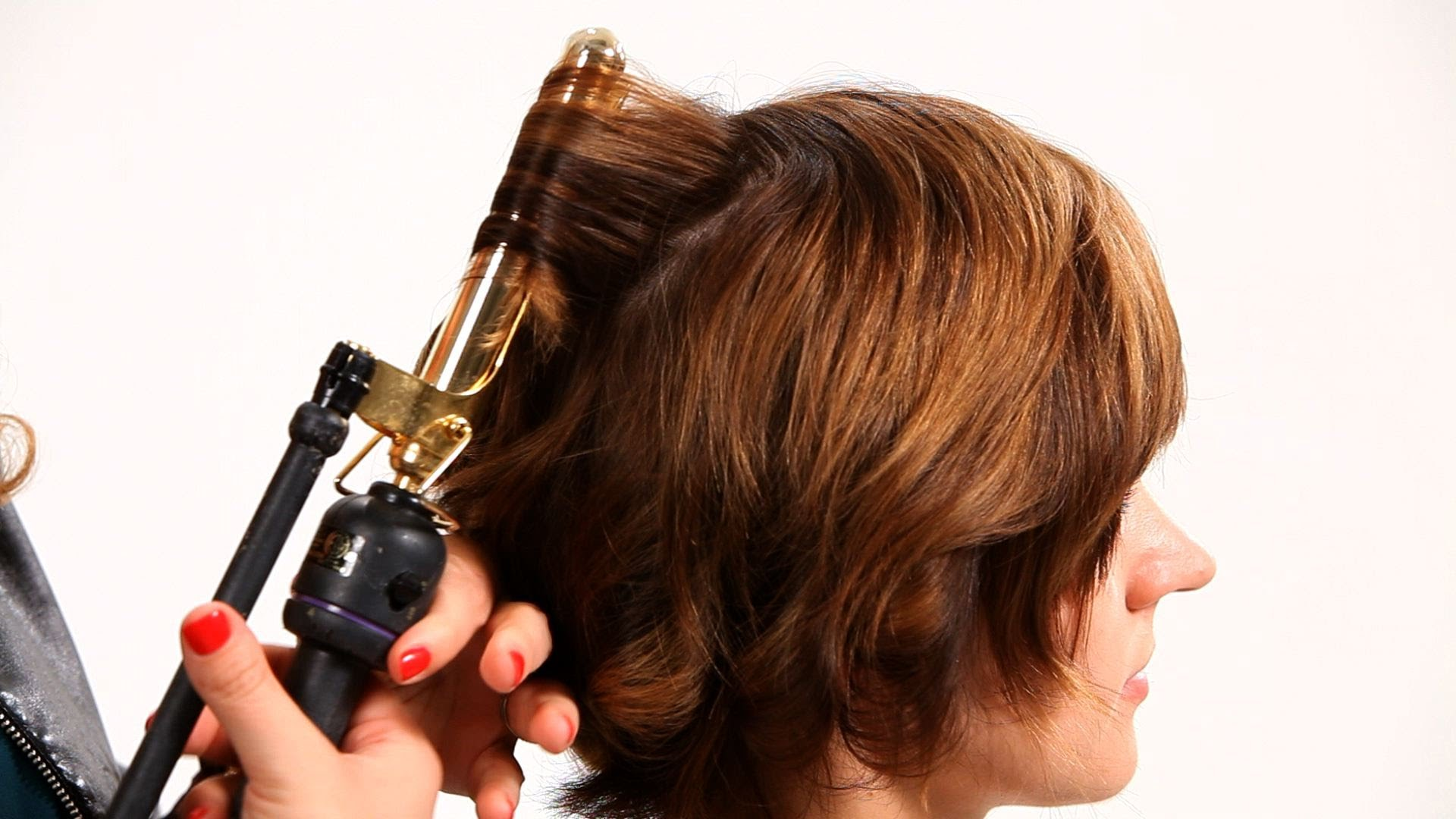 1 Hairstyles For Short Hair: Using Curling Iron On Short Hair Pt. 1