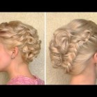 Curly wedding updo Prom hairstyle for medium long and short hair New Year's  tutorial