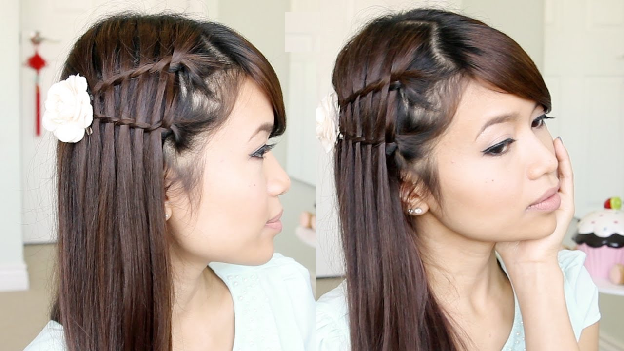Double Waterfall Twist Hairstyle For Medium Long Hair