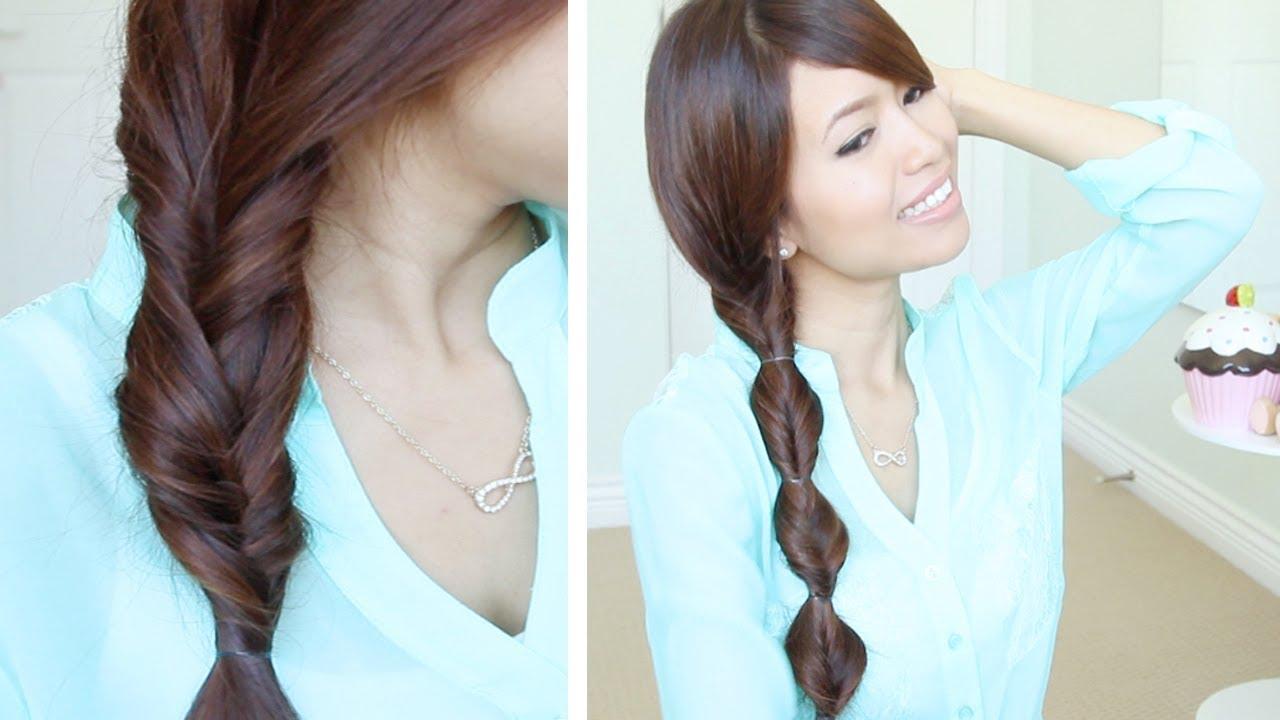 Faux Braid Hairstyles in Under a Minute for Medium Long Hair Tutorial