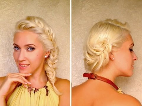 French fishtail braid hairstyles for medium long layered ...