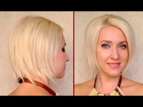 to fake short hair Faux bob hair tutorial Updo for medium long hair