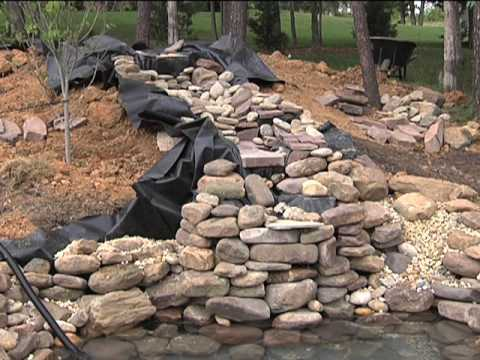Ponds water gardens waterfalls chapter 5 building a for Diy waterfall pond ideas