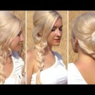 Prom hairstyle for long hair New Year's eve rope braid hair tutorial