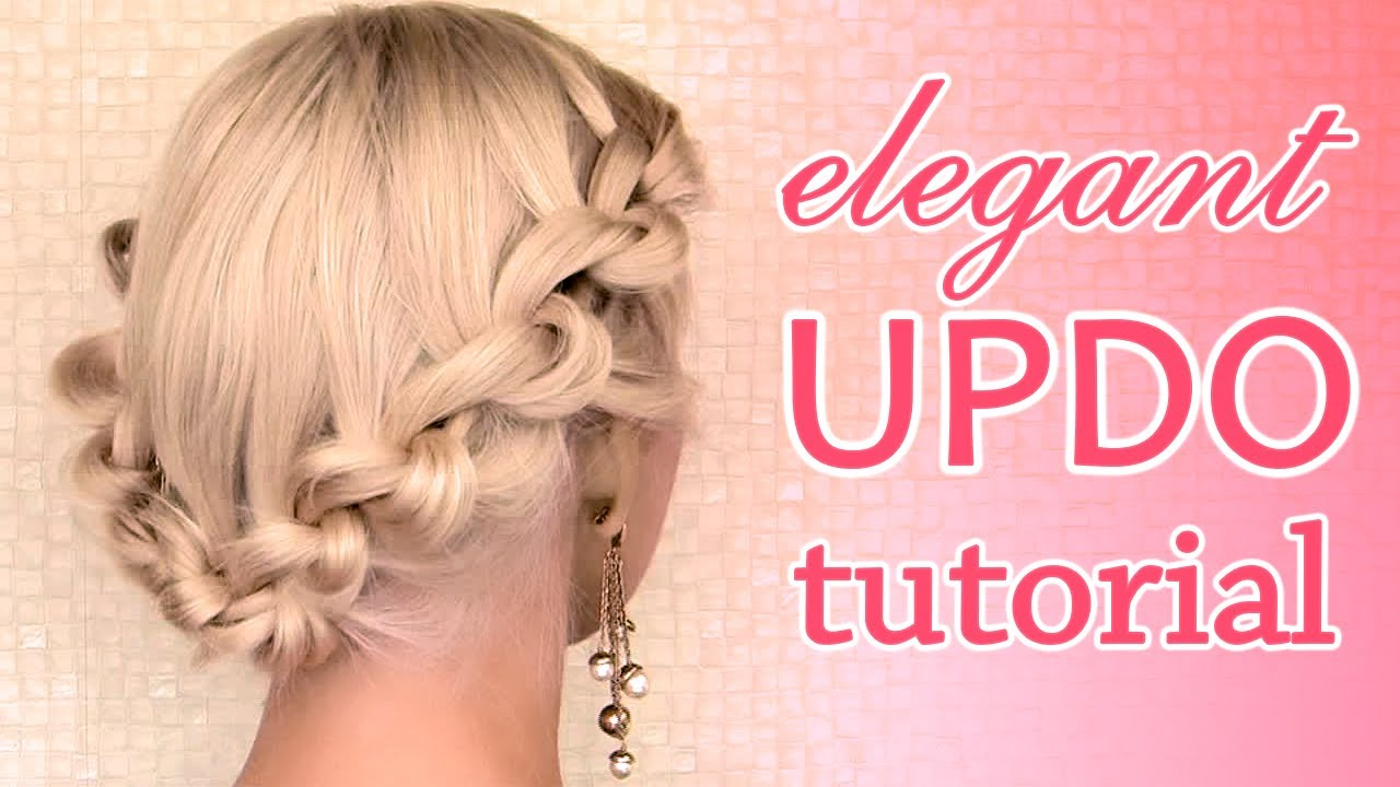 Prom, wedding, Valentine's day hair tutorial: knotted updo hairstyle ...