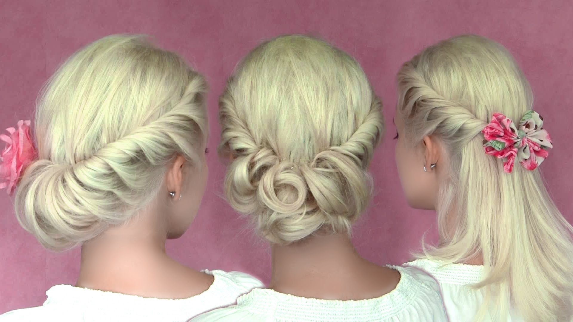 Summer Wedding Hairstyles For Medium Hair : Romantic updo hairstyles for medium long hair