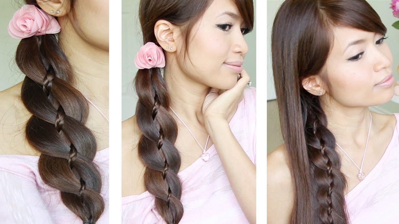 unique 4 strand braid braid in braid hairstyles for
