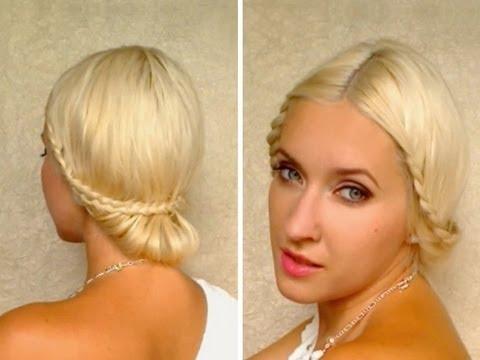 Surprising Braided Wedding Updo Hairstyles For Medium Long Hair Tutorial Prom Short Hairstyles For Black Women Fulllsitofus