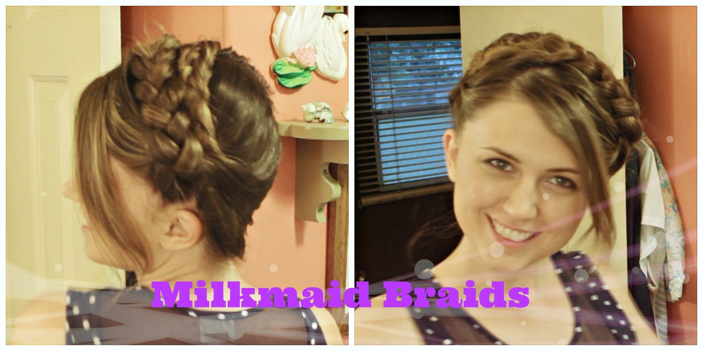 , Milkmaid Braids Hair Tutorial for Medium to Long Hair | Qtiny.com