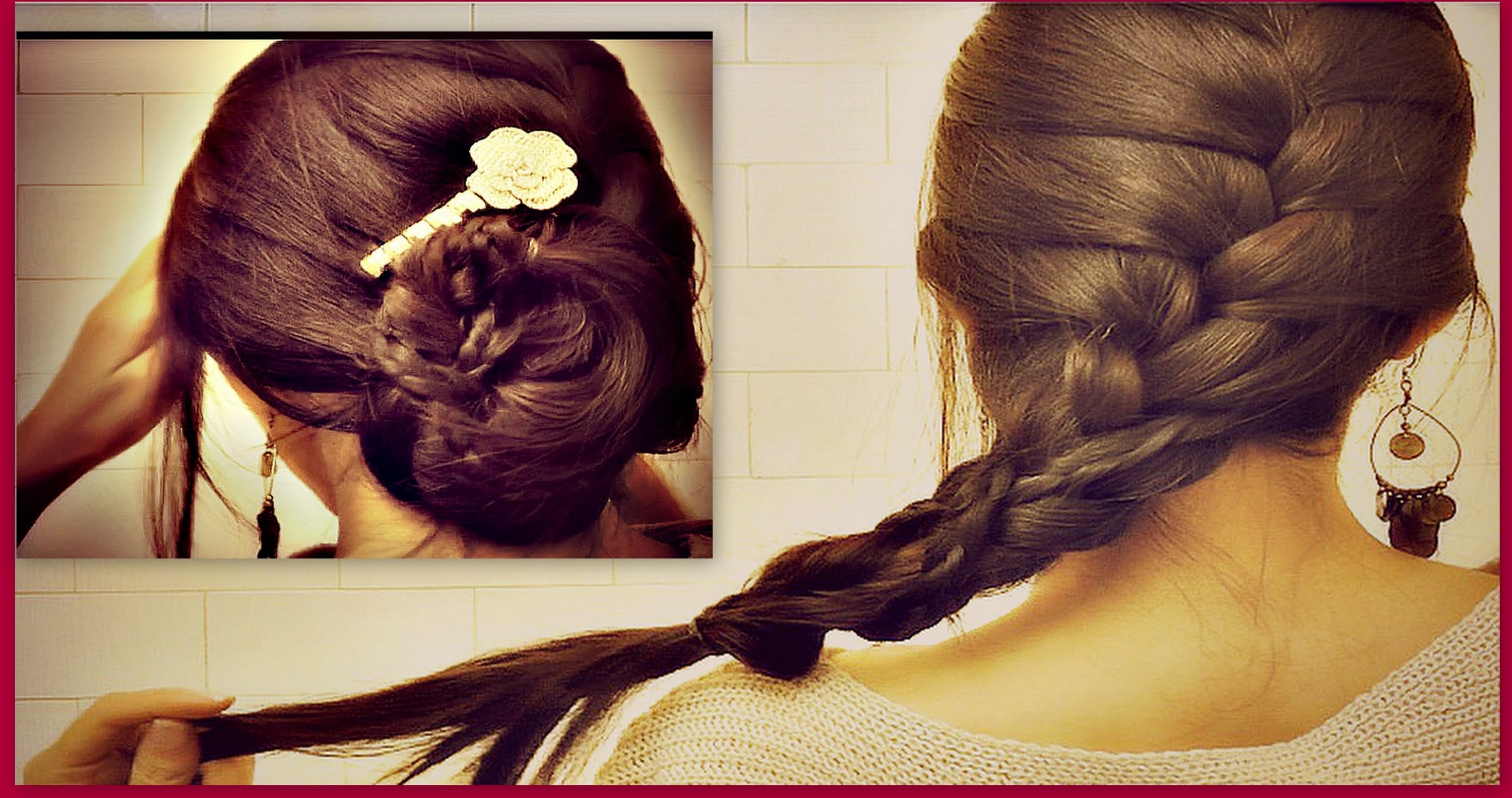 how to french braid own hair - photo #5