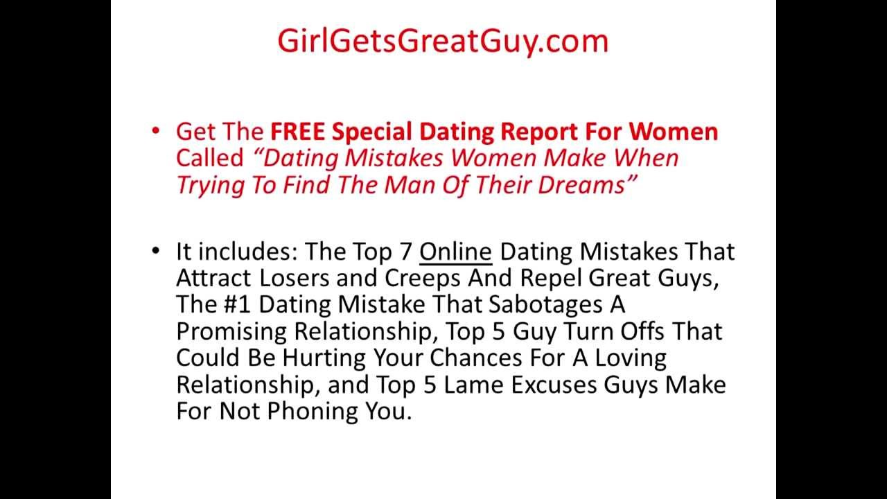 Dating advice for men from women