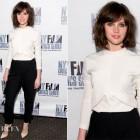 Felicity Jones In Balenciaga – 'Breathe In' New York Film Critics Series Screening