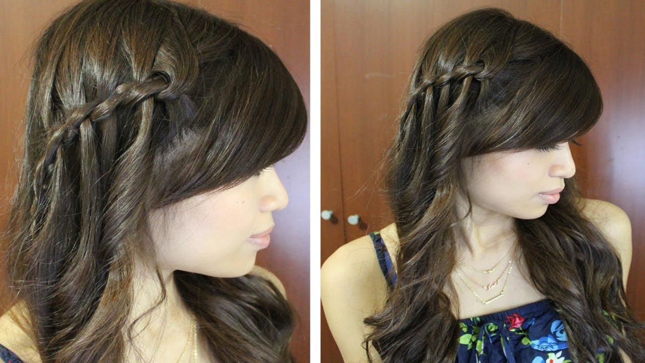 ... Waterfall Twist Hairstyle for Medium Long Hair Tutorial Qtiny.com