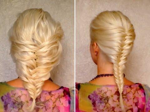 Прическа колоски на средние волосы фото