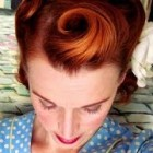 Victory Rolls on Short (Bobbed) Hair…1940's Reverse Rolls Hairstyle