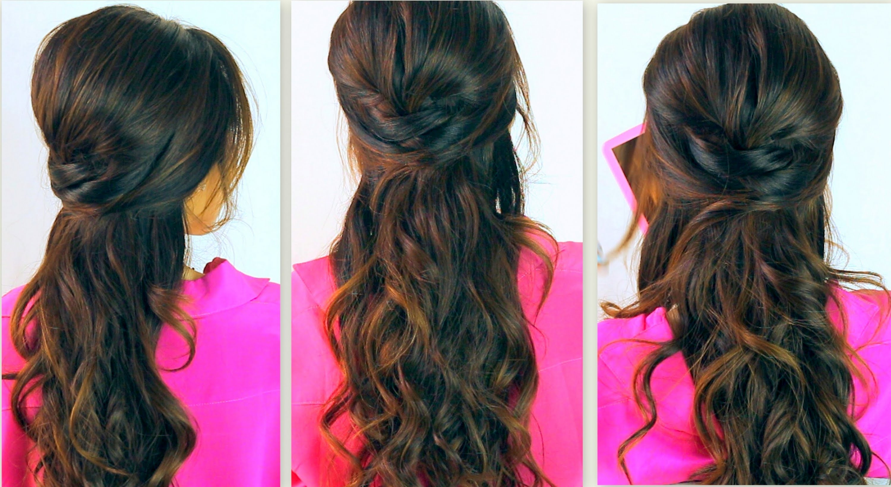 HAIRSTYLES | EVERYDAY POOFY CURLY HALF-UP UPDOS FOR MEDIUM LONG HAIR