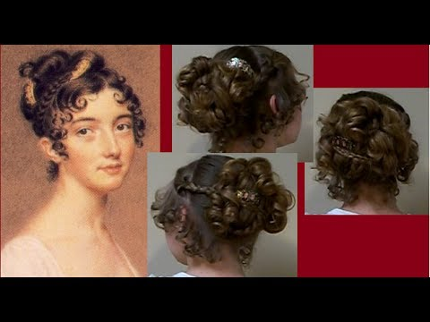 Ball Party Fancy Regency Era Hairstyle Tutorial~Long Hair