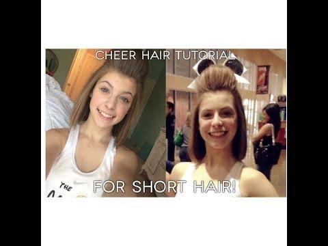 Cheer Hair Tutorial For Short Hair Qtiny Com