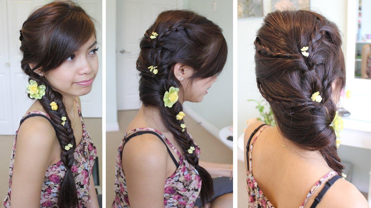 Fancy Fishtail Braid Hairstyle For Medium Long Hair