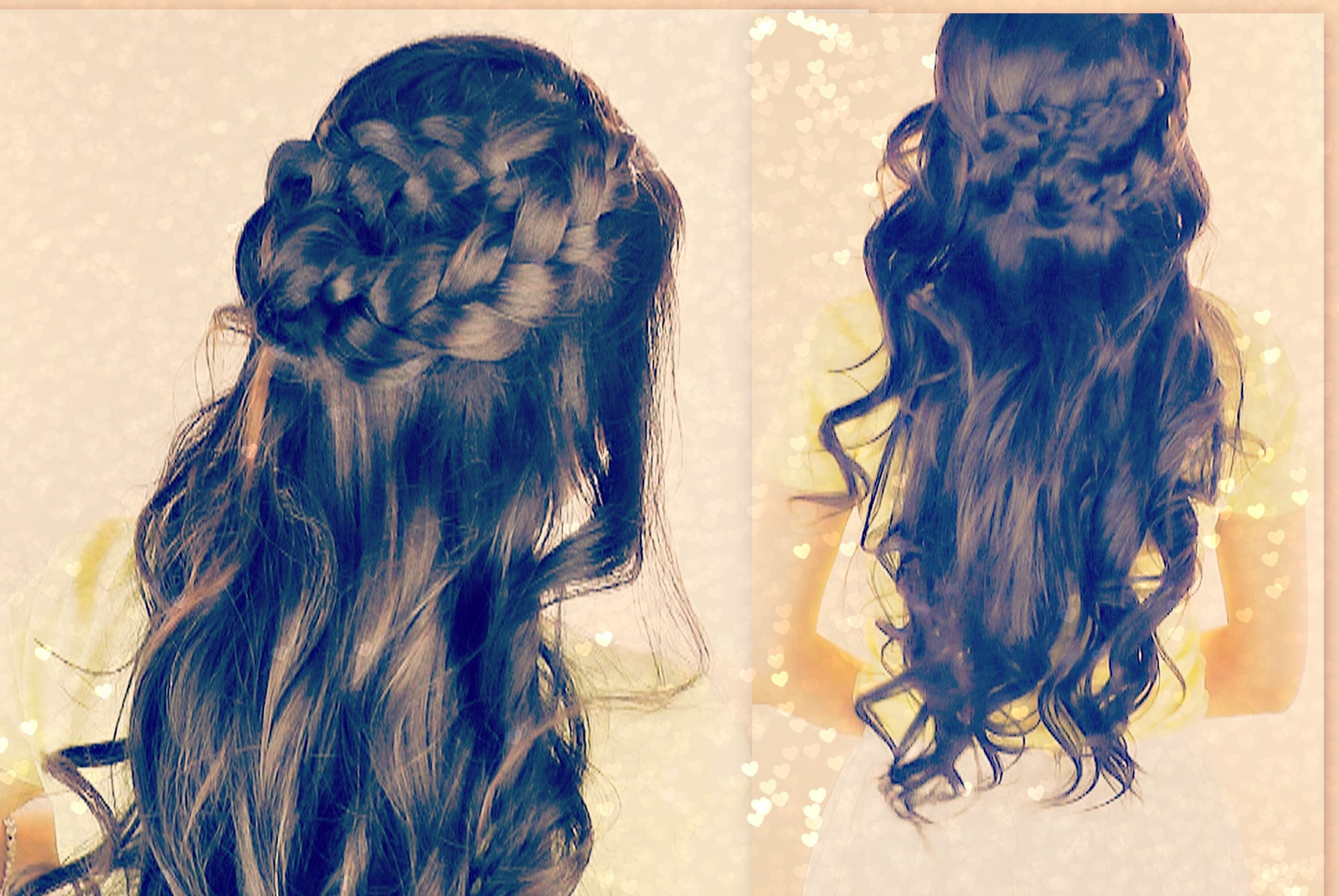 ★CUTE CURLY HAIRSTYLES | BRAIDED HALF- UP UPDOS FOR SCHOOL ...
