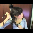 Easy christmas hair tutorial for long and medium hair