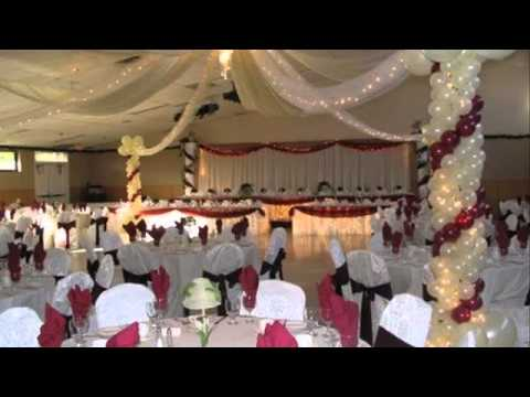 Wedding decoration ideas banquet hall decorations by for Wedding hall decoration items