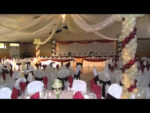 Wedding decoration ideas banquet hall decorations by for Wedding hall decoration items