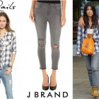Kourtney Kardashian's Rails 'Hunter' Button Down Shirt And J Brand '8226 Photo Ready' Cropped Skinny Jeans