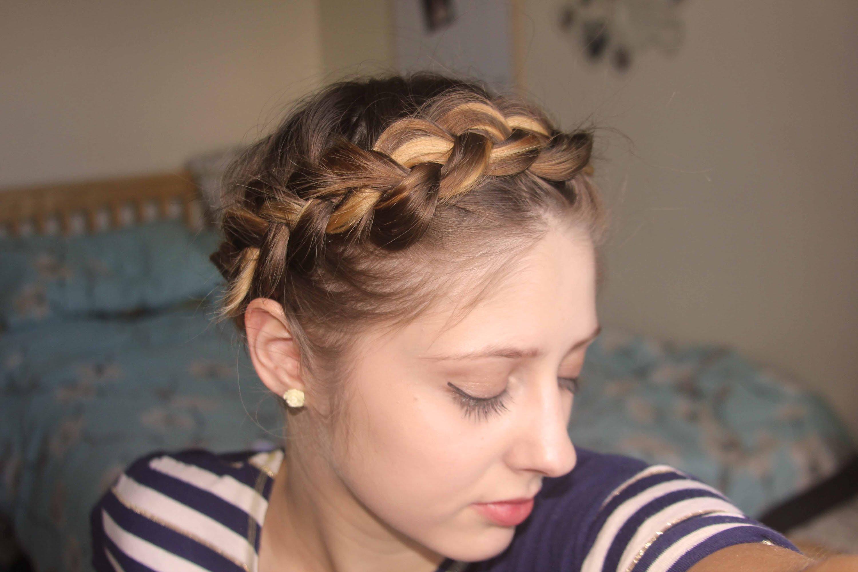 Hairstyles For Short Hair Plaits : Short, fine hair tutorial: Easy Crown Braid / Plait Qtiny.com