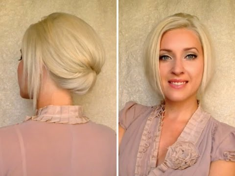 How To Style Short Hair For Work Short Hair Updo For Work Office Job Interview Elegant Hairstyle .