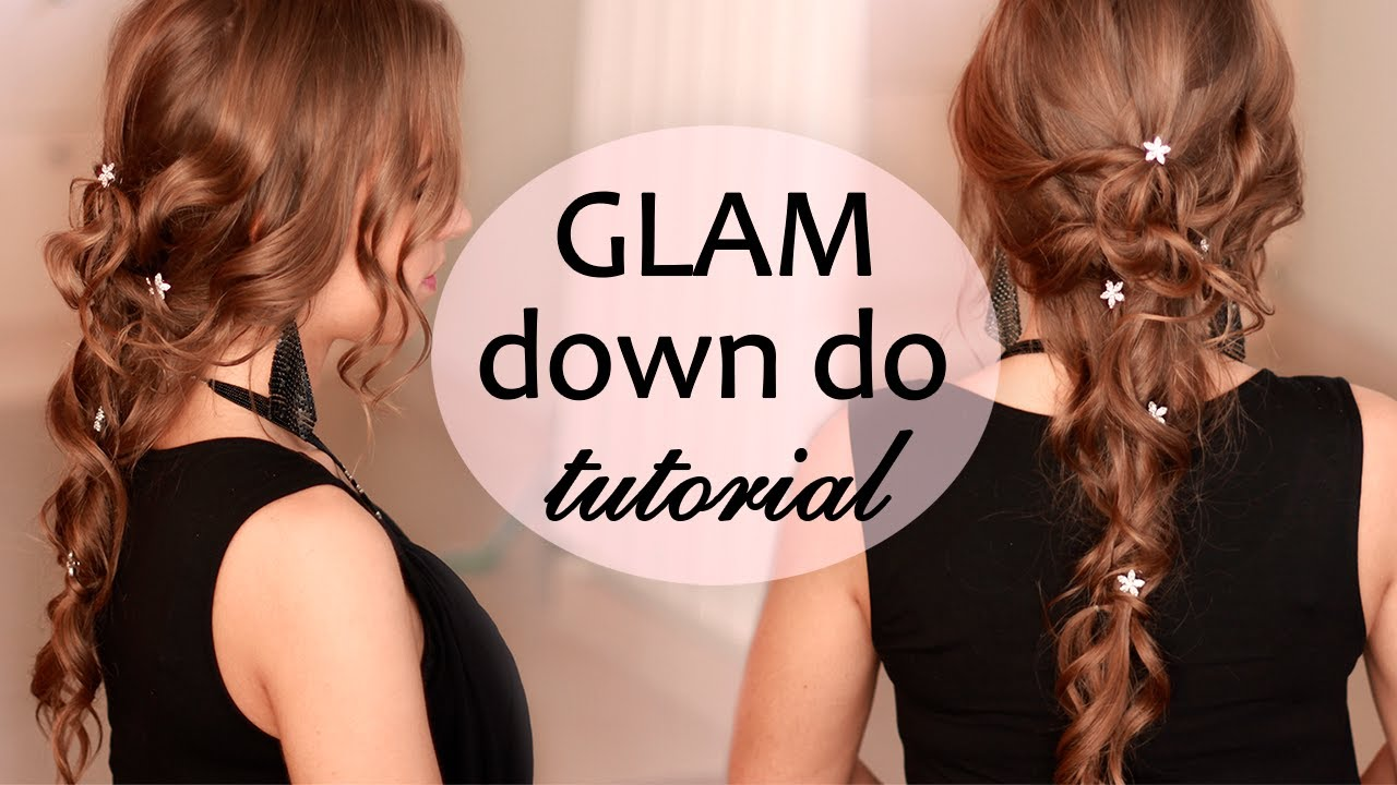 Long Hair Prom Down Dos : Wedding prom down do hairstyle with curls for long hair