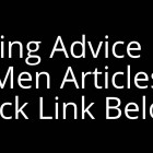 Dating Advice For Men Articles