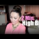 Easy High Bun in less than 2 Minutes – Quick & Easy Hair Tutorial – hollyannaeree