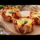 Eggs in bacon baskets – quick recipe
