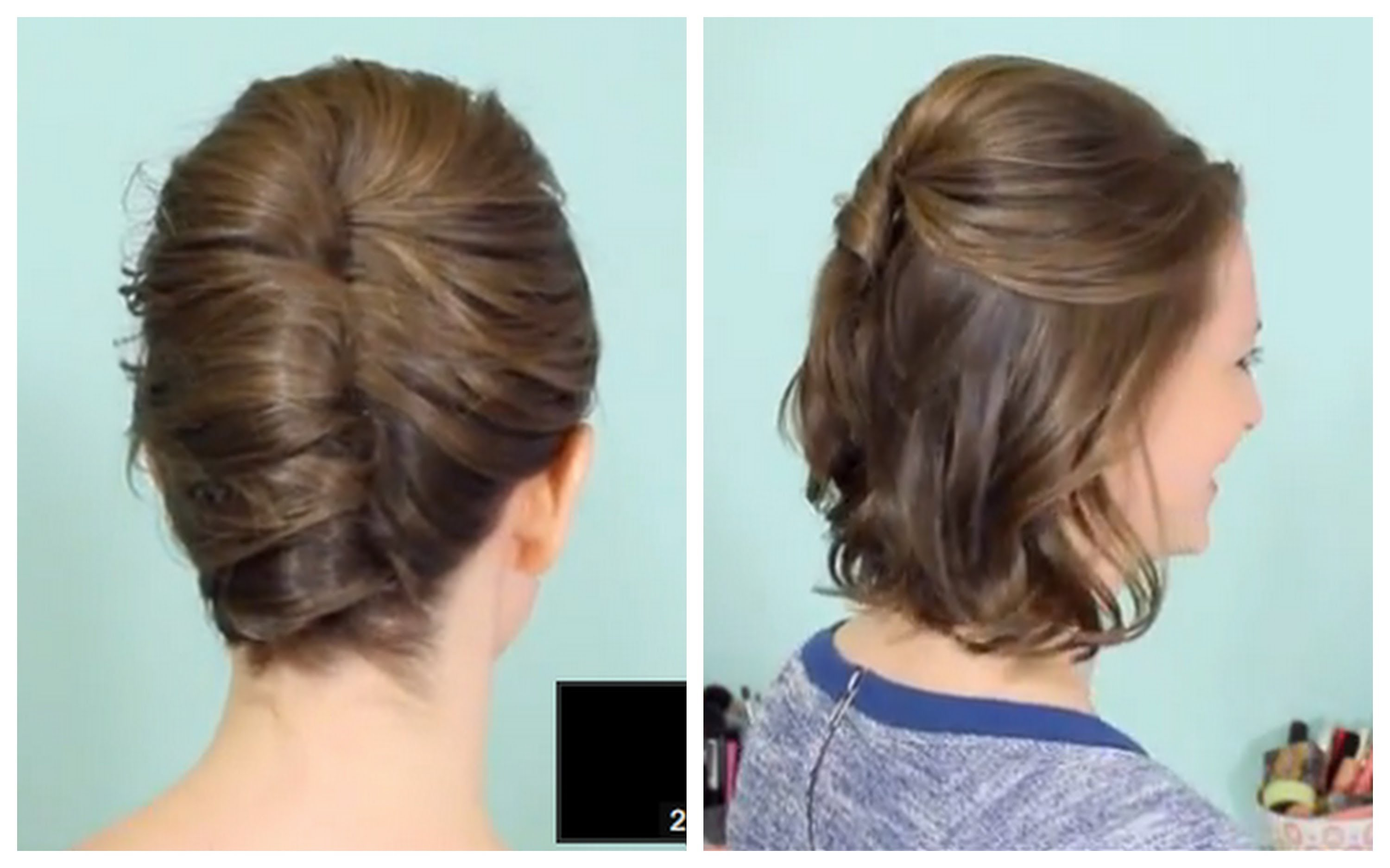 French Twist & Half Updo for Short hair! | Qtiny.com