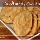 Masala Mathri – Spicy Crackers Recipe by Manjula