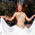 Double circle skirt Bellydance fashion by Sofia Metal Queen at Ameynra